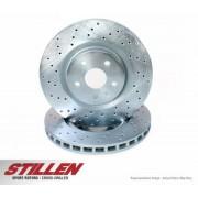 STILLEN Front Cross Drilled 1-Piece Sport Rotors - SET